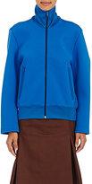 Balenciaga Women's Convertible-Sleeve Scuba-Knit Track Jacket-BLUE