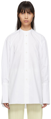 Studio Nicholson White Band Collar Shirt