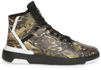 Givenchy Camouflage Wing Leather High-Top Sneakers