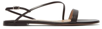 Gianvito Rossi Manhattan Leather Slingback Sandals - Womens - Dark Brown