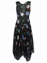 Markus Lupfer Floral Pleated Dress