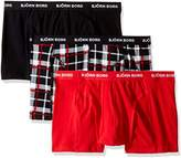 Bjorn Borg Men's 3-Pack Contrast Check Boxer Brief