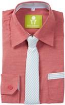 Future Trillionaire Dapper Dude Solid Chambray Shirt & StripeTie (Toddler, Little Boys, & Big Boys)