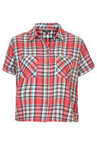Topshop Short sleeve check shirt in multi-check print with front pocket detail. 100% cotton. machine washable.