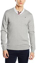 Gaastra Men's Long Sleeve Jumper Grey Grau (GREY HEATHER H73)