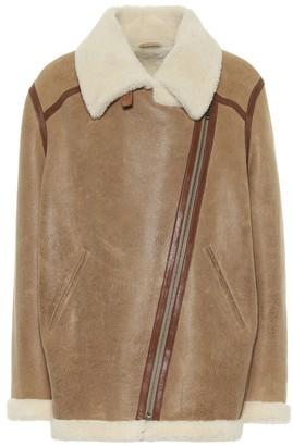 Etoile Isabel Marant Azare leather and shearling jacket
