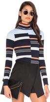 525 America Rib Mock Neck Sweater