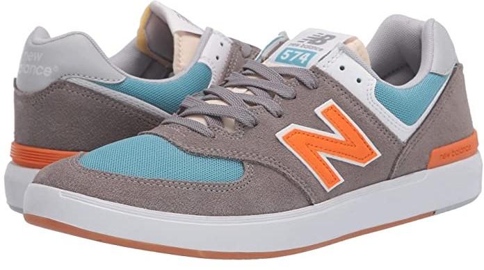 New Balance Numeric AM574 (Grey/Orange