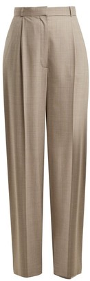 The Row Elin Wool-blend Trousers - Womens - Grey Multi