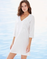 Soma Intimates Embroidered Cotton Tunic Swim Cover Up White