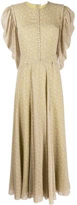 Chloé Floral-Print Puff-Sleeve Dress