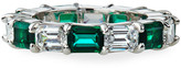 FANTASIA Synthetic Emerald and Cubic Zirconia Ring, Size 6-8