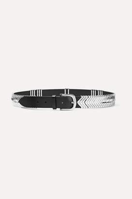 Isabel Marant Tehora Embellished Leather Belt - Black