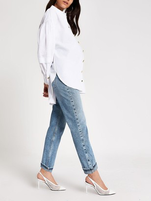 River Island Maternity Over Bump Mom Jeans -Mid Authentic