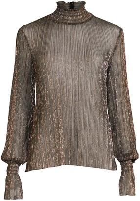 L'Agence Paola Knit Metallic Top