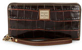 Dooney & Bourke Crocodile-Embossed Leather Zip-Around Wallet