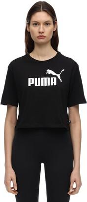 Puma Select Ess Metallic Cropped Cotton T-shirt