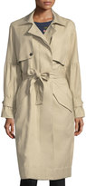 Joie Alwena Button-Front Trench Coat