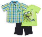 Nannette Boys T-Rex Tee, Sportshirt and Shorts Set
