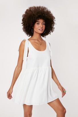 Nasty Gal Womens Tie Me a River Mini Dress - White