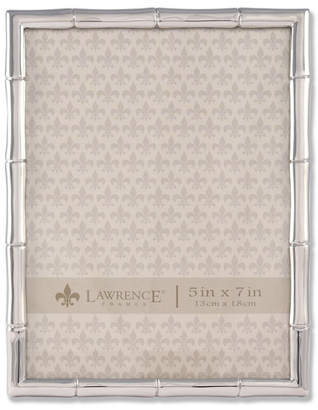 """Lawrence Frames 710157 Silver Metal Bamboo Picture Frame - 5"""" x 7"""""""