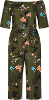 City Chic Jungle Floral Jumpsuit