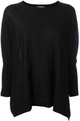 N.Peal flared sweatshirt