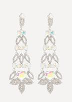 Bebe Glam Crystal Long Earrings