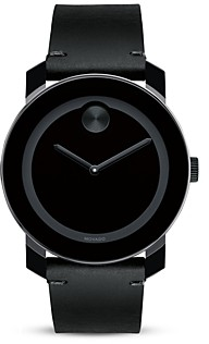 Movado Bold Large Black TR90 and Stainless Steel Watch, 42mm