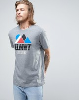 Element Angles Logo T-shirt In Grey Heather