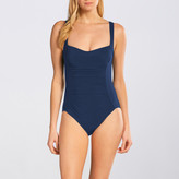 Karla Colletto Basic Ruched Square Neck Underwire One Piece