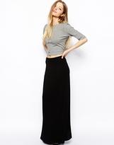 Asos Maxi Skirt In Bias Cut - Black