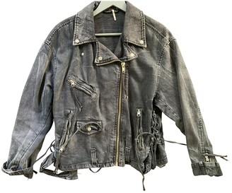 Free People Black Denim - Jeans Jackets