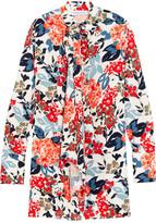 Sonia Rykiel Floral-print Crepe Mini Dress - Orange
