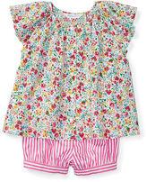 Ralph Lauren Girl Flutter-Sleeve Top & Bloomer