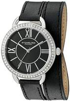 Stuhrling Original Deauville Sport Women's Quartz Watch with Black Dial Analogue Display and Black Leather Strap 587.02