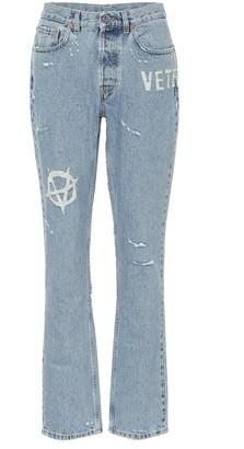 Vetements High-rise slim jeans