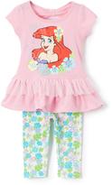 Children's Apparel Network Pink Disney Princess Ariel Tunic & Leggings - Toddler & Girls