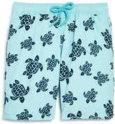 Vilebrequin Boys' Jam Flocked Turtles Swim Trunks - Ages 10-14