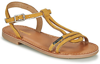 Les Tropéziennes BADABUC girls's Sandals in Yellow