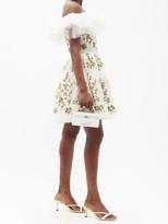 Thumbnail for your product : Giambattista Valli Off-the-shoulder Floral-tulle Mini Dress - White Multi