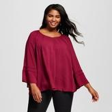 Merona Women's Plus Size Feminine Top Wild Cherry