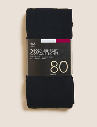 Marks and Spencer 2pk 80 Denier Body Sensor Tights
