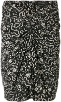 Isabel Marant geometric and floral print ruched skirt - women - Silk/Spandex/Elastane - 36