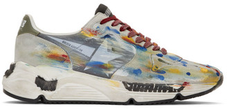 Golden Goose Multicolor Dripping Paint Running Sole Sneakers