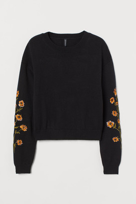 H&M Embroidery-detail jumper