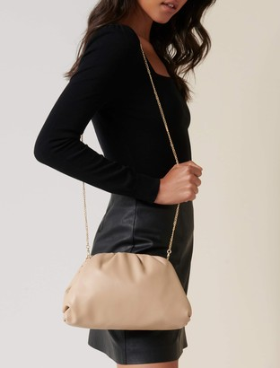 Forever New Leona Oversized Gathered Pouch - Camel - 00