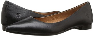 Frye Sienna Ballet (Black Polished Soft Full Grain) Women's Flat Shoes