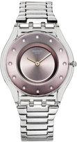 Swatch Women's Swiss Silver Drawer Stainless Steel Bracelet Watch 34mm SFK393G
