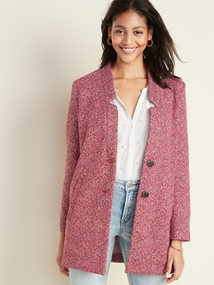 Old Navy Oversized Soft-Brushed Button-Front Coat for Women